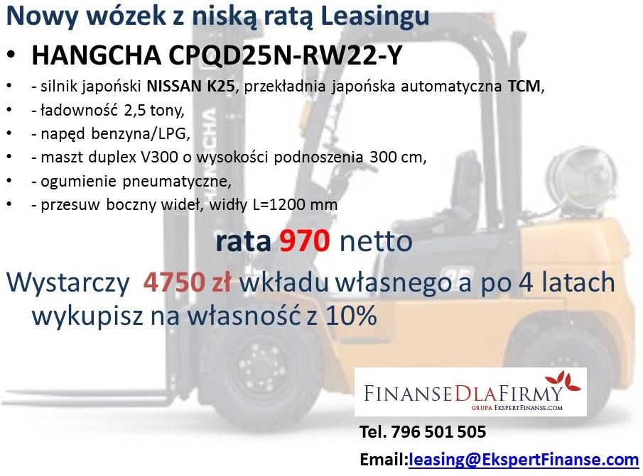 wózki widłowe cena wózka